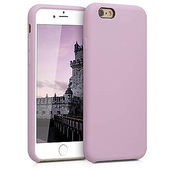 kwmobile Funda para Apple iPhone 6 / 6S - Carcasa de [TPU] para teléfono móvil - Cover [Trasero] en [Malva Pastel]