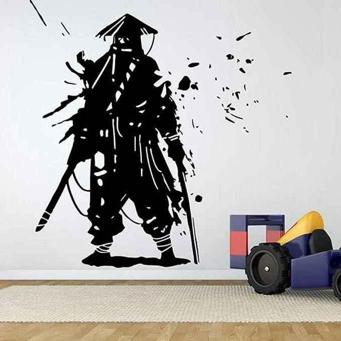 etiqueta de la pared Pegatina de Kendo Espada Samurai ...