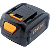 Elefly 20V Max 5.0Ah Lithium Battery Replacement for Worx 20V Battery WA3578 WA3520 WA3525 WA3575 WG155 WG151s Worx 20V…