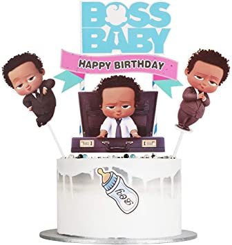 Amazon Com Lveud Boss Baby Happy Birthday Cake Topper Kids