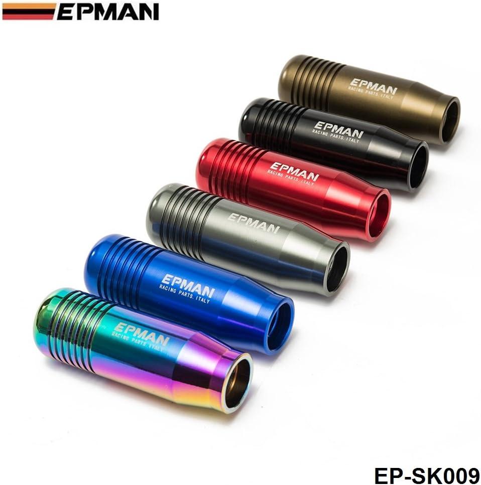 Knobs Blue EPMAN Universal Aluminum Manual Gear Stick Shift Knob ...