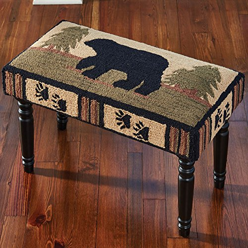 Park Designs Adirondack Bear Hooked Bench