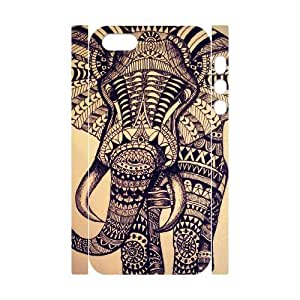 ALICASE Diy Customized Case Elephant Aztec Tribal 3D Case for iPhone 5,5S [Pattern-1]