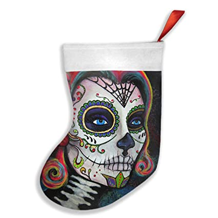 new sugar skull candy xmas christmas stockings xmas party mantel decorations ornaments for decoration kids gift - Christmas Sugar Skull