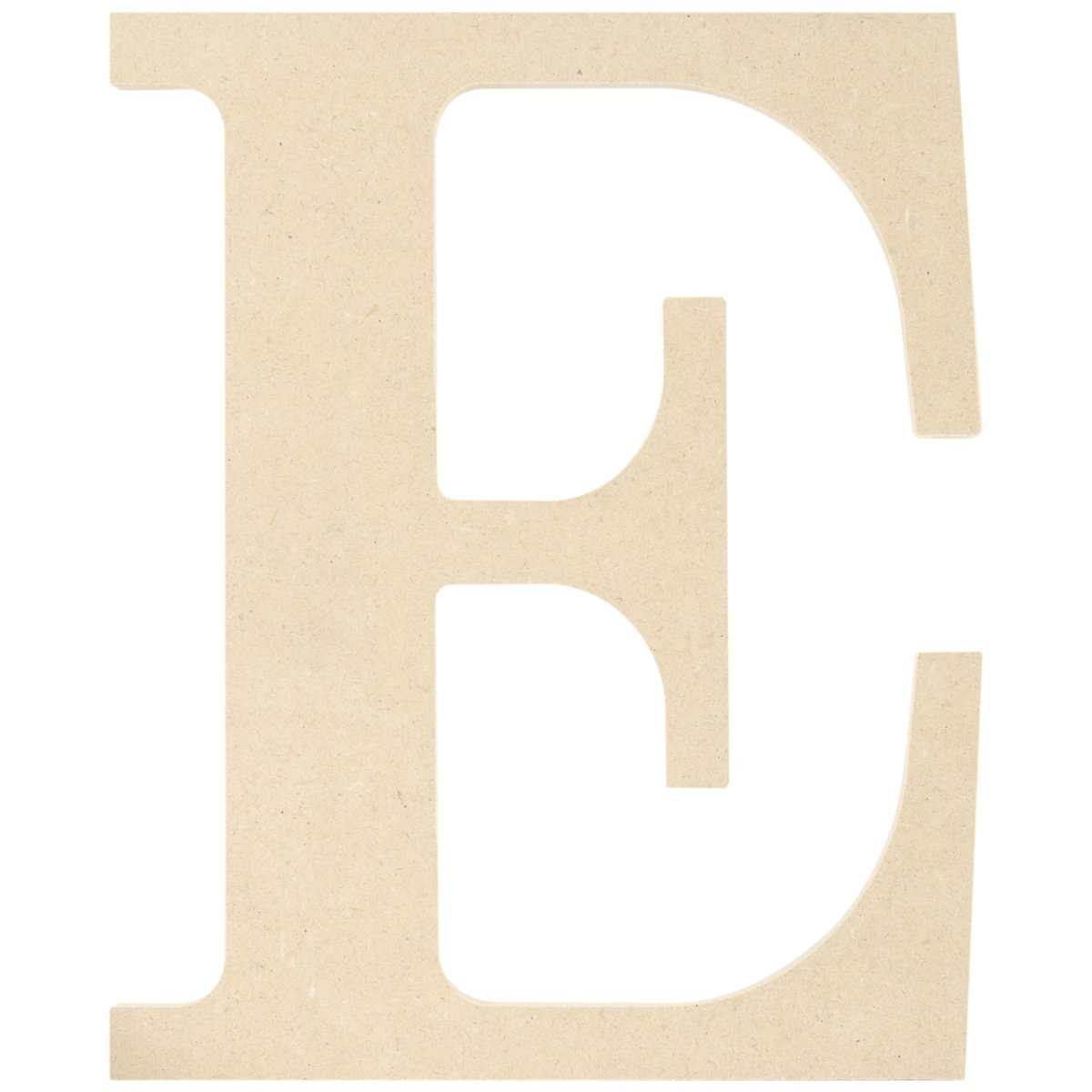 MPI MDF Classic Font Wood Letters and Numbers, 9.5-Inch, Letter E MDF9-L405