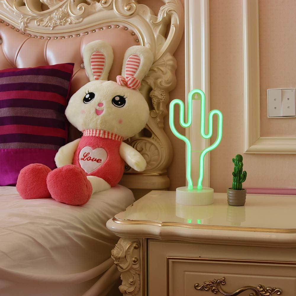 GUOCHENG Lovely Pink Heart Neon LED Light Sign Pedestal Neon Lamp Nightlight Decorative Neon Marquee Sign for Festival Wedding Christmas Children Bedroom