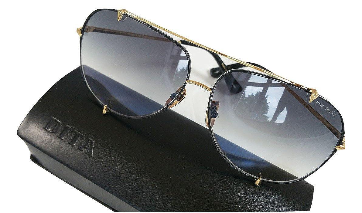 4012d4f02b64 Dita Talon Aviator Sunglasses 23007 Gold brushed frame with Grey Gradient  Lens  Amazon.co.uk  Clothing