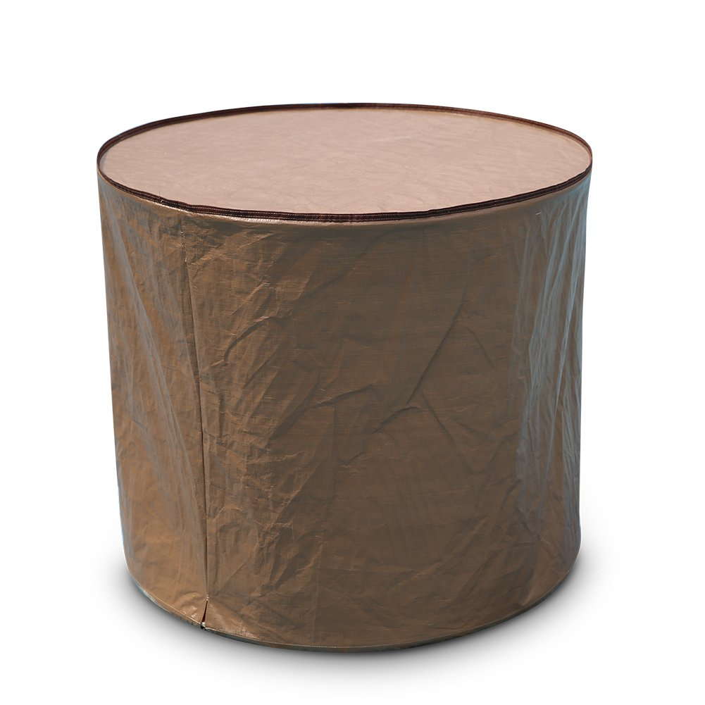 Abba Patio Air Conditioner Cover, Round, Brown APRACC3430B