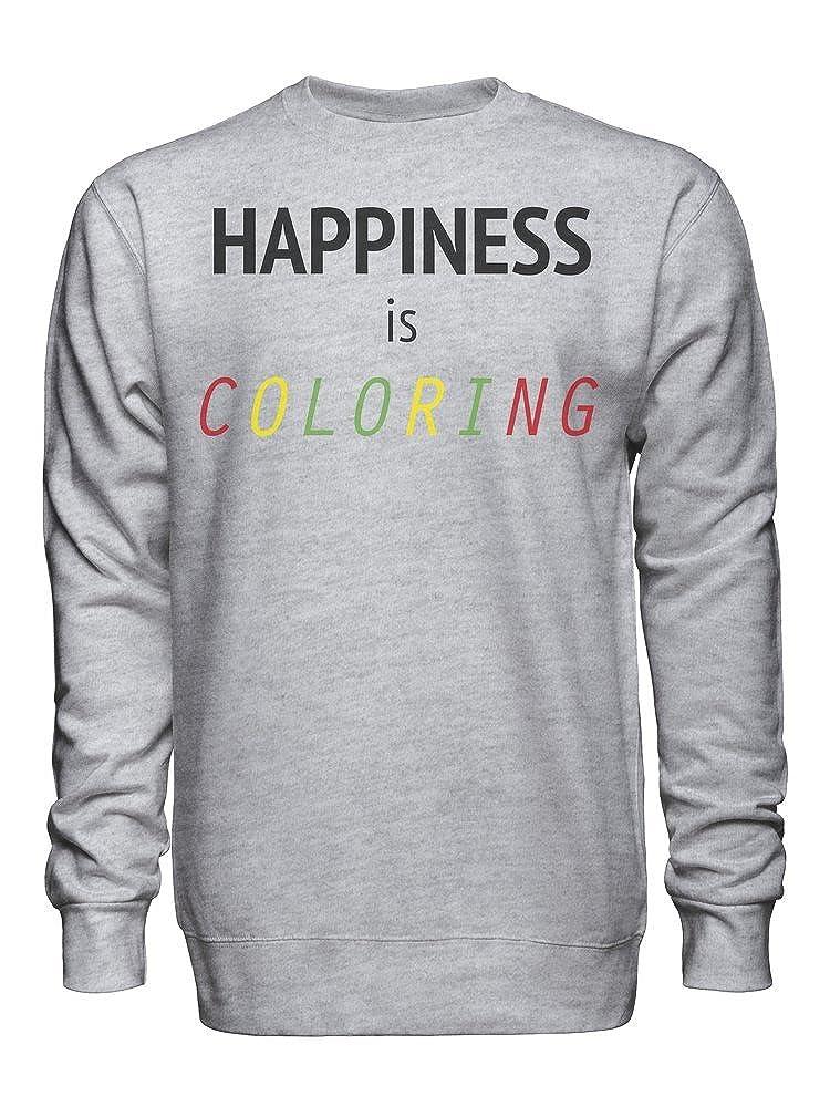 graphke Happiness is Coloring Unisex Crew Neck Sweatshirt