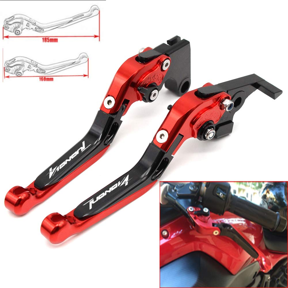 CNC Extendable Folding Motorcycle Adjustment Brake Clutch Levers For Aprilia TUONO V4R/Factory 2011 2012 2013 2014 2015 2016 2017 Yang hua