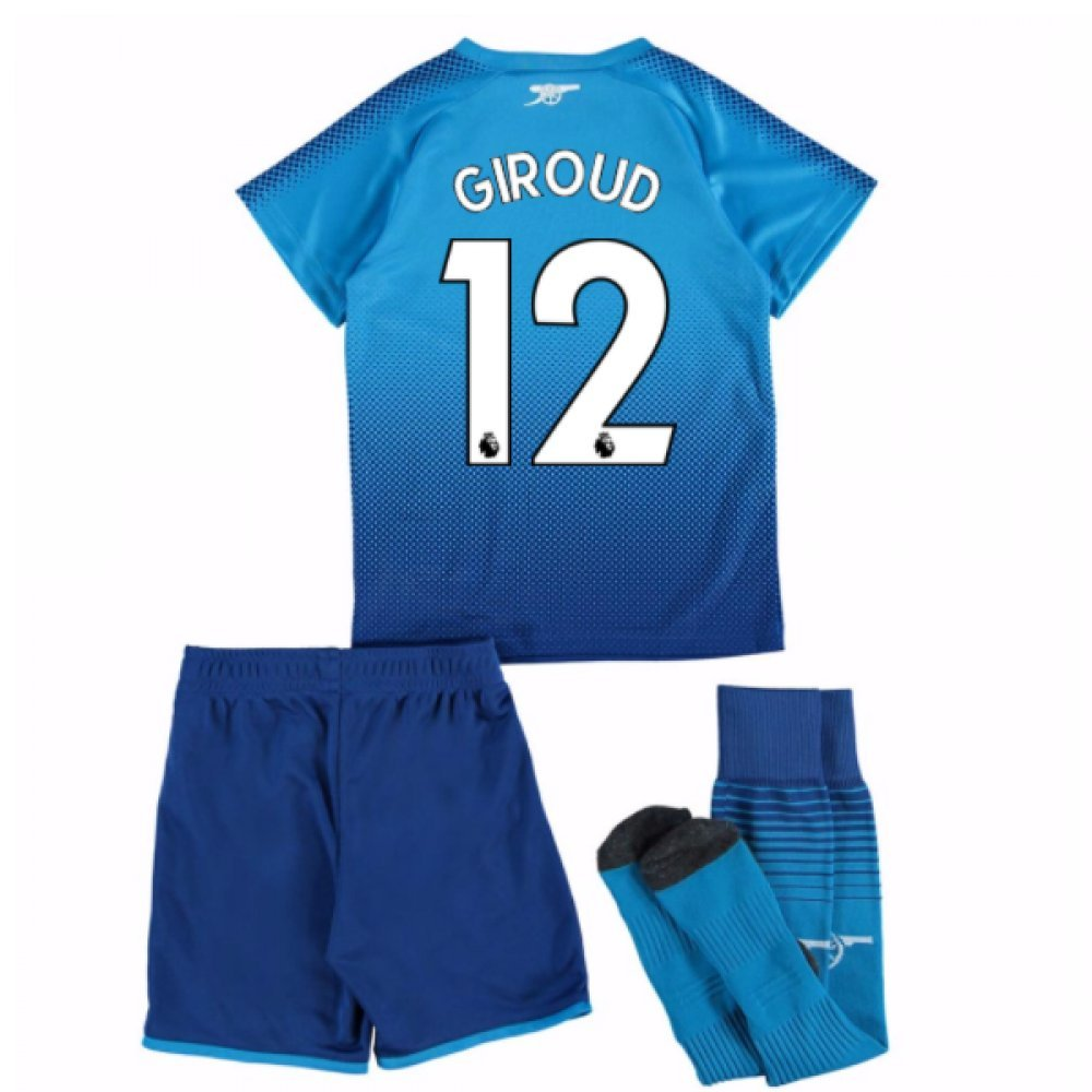 UKSoccershop 2017-18 Arsenal Away Mini Kit (Olivier Giroud 12)