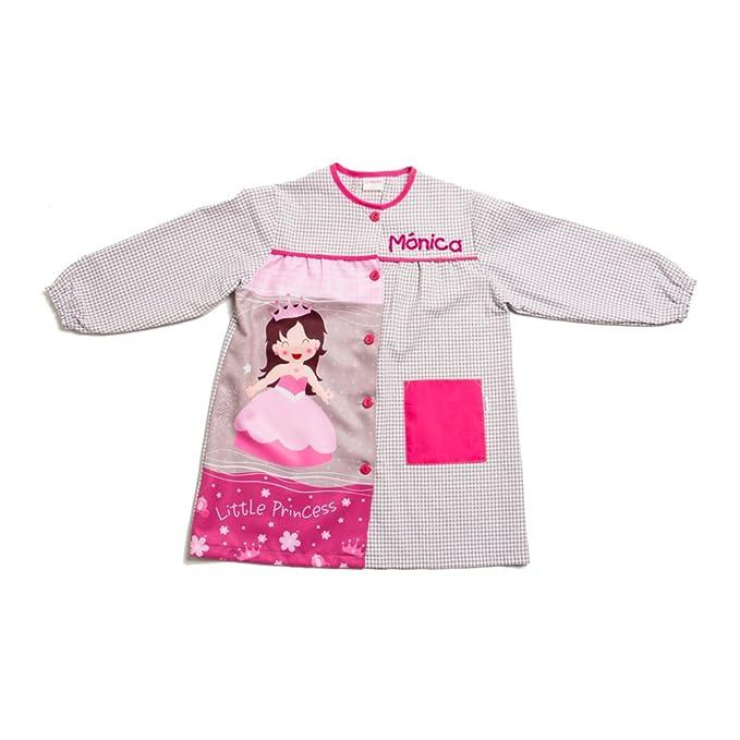 Dyneke Bata escolar botón gris Princess (personalización opcional gratuita con nombre bordado)(Talla 5): Amazon.es: Ropa y accesorios