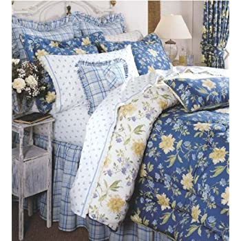 laura ashley emilie collection queen comforter set home kitchen. Black Bedroom Furniture Sets. Home Design Ideas