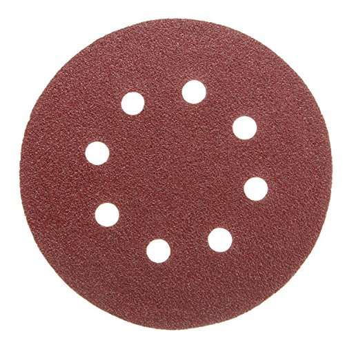 Letbo New 30pcs 8 Holes Abrasive Sand Discs Sanding Paper 60 120 240 Grit Sandpapers