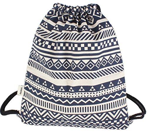 DANUC Gym Sack Bag Drawstring Backpack Sport Bag for Men & Women School Travel Backpack for Teens College Girls Sackpack (blue)