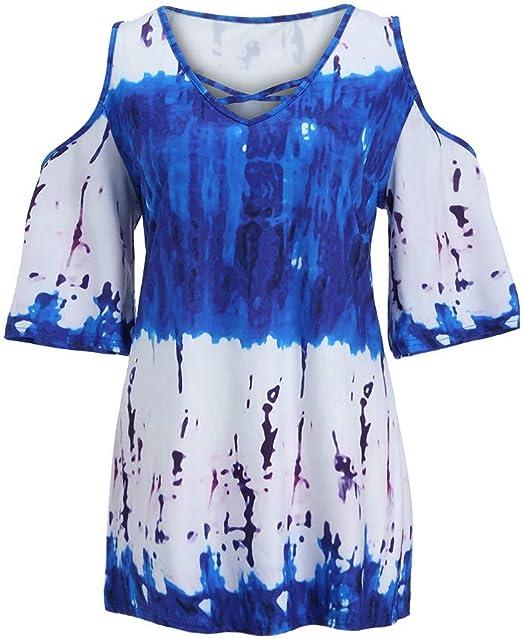 Costura Color de ContrasteTops Deportivos Ronamick Fiesta Camisetas Originales Mujer Blusa Nochevieja Mujer Fiesta Camisa de Cuadros Mujer(Azul,S): Amazon.es: Iluminación