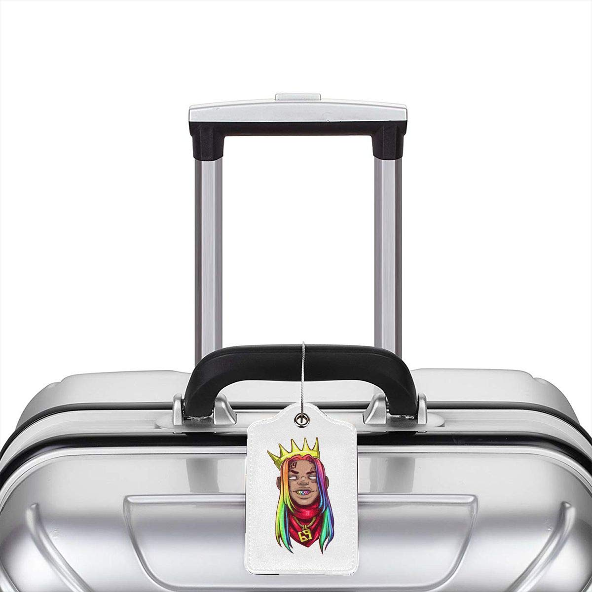 6ix9ine Logo Leather Luggage Tag Travel ID Label For Baggage Suitcase