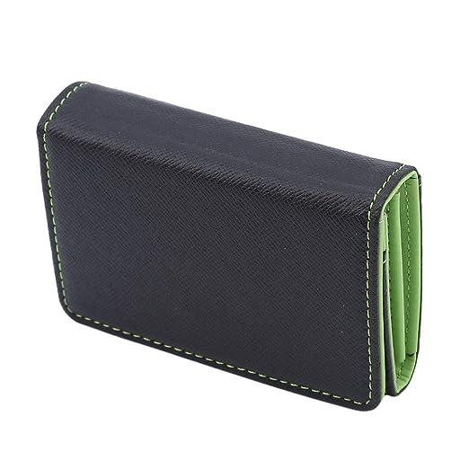 Hengxing - Mini cartera, piel bifold, monedero, monedero ...