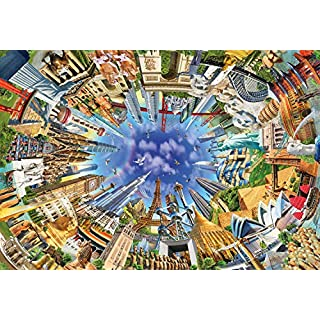 Buffalo Games - World Landmarks 360-2000 Piece Jigsaw Puzzle, Multi