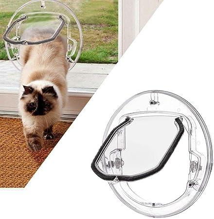 Maogoumao Puerta para Perros y Gatos Puerta de Aleta Redonda Redonda for Mascotas con Kit de