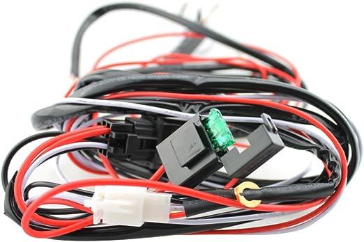 Kesoto Kabelbaum Kabelsatz Für Arbeitsscheinwerfer Tagfahrleuchten Mit Relais Und Schalter 12v 40a Auto