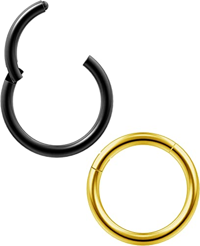 1x 2x 16G 14G Surgical Steel Round Septum Retainers Nostril Rings Nose Barbells