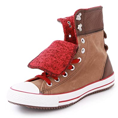 3485abcdc374 Converse Chuck Taylor Elsie 540295C Womens Laced Suede   Leather Trainers  Brown Red - 8  Amazon.co.uk  Shoes   Bags