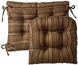 Klear Vu Gripper Jumbo Scion Rocking Chair Cushion Set, Chocolate