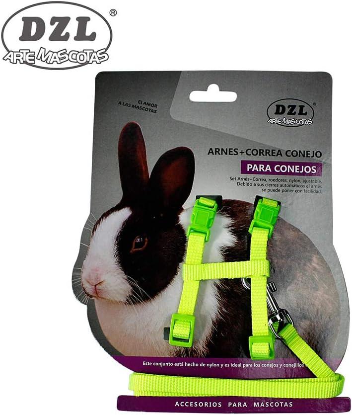 DZL® ARNÉS con Correa para Conejo 1,0-28/38CM (Azul Claro): Amazon ...