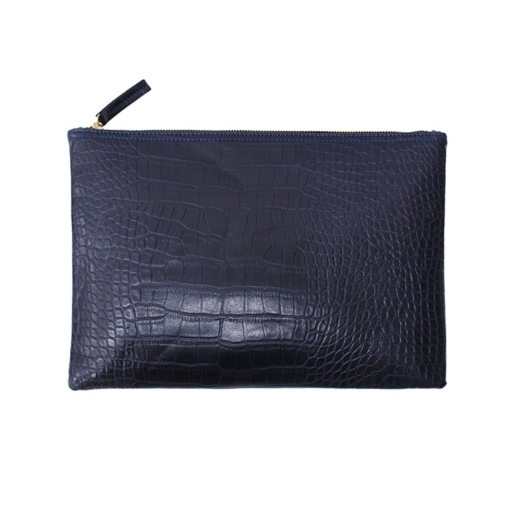 Froomer Women Retro Crocodile Pattern Envelope Chain Purse Handbag
