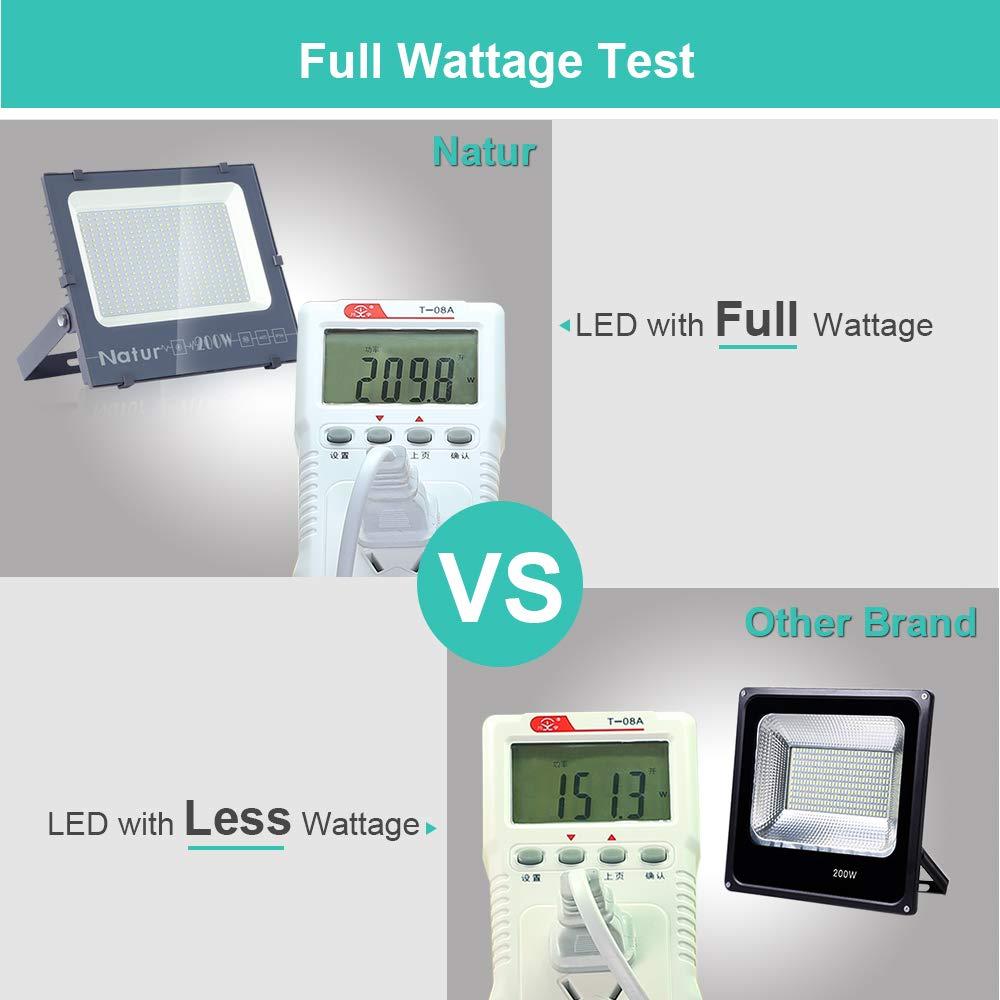 Natur 300W LED Strahler,30000LM Superhell Fluter,IP66 wasserdicht Industriestrahler,K/ühles Wei/ß Flutlicht-Strahler,Au/ßen-Leuchte Flutlicht-Strahler f/ür Au/ßenbereich