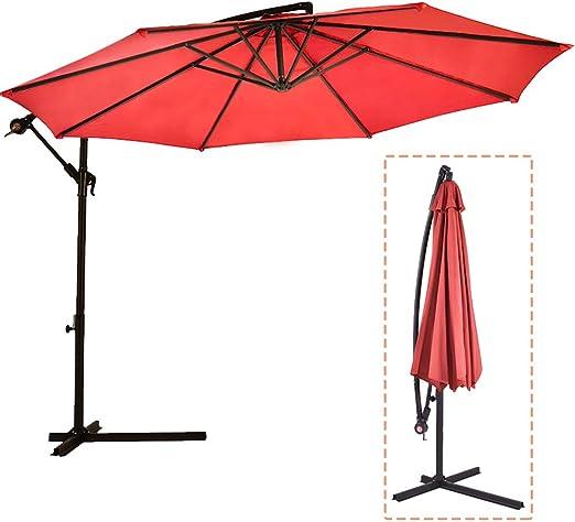 Sombrilla Parasol de para Terraza Jardín Patio Ajustable Protección Solar UV: Amazon.es: Bricolaje y herramientas