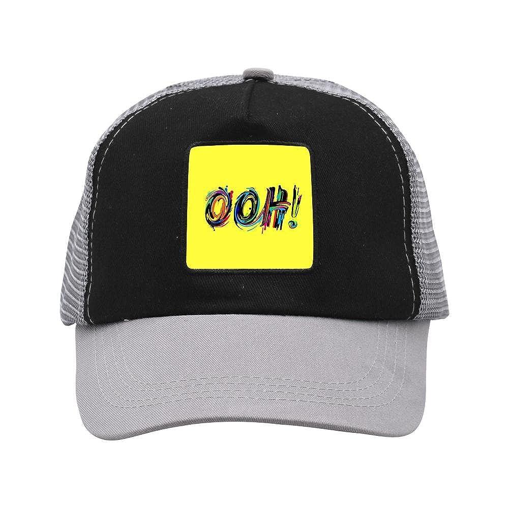 Nichildshoes hat Mesh Caps Hats for Men Women Unisex,Print Ooh