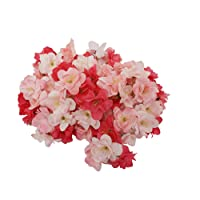 Summer Flower Silk Blooming Cherry Blossoms Sakura Heads Artificial Flower Arrangement...