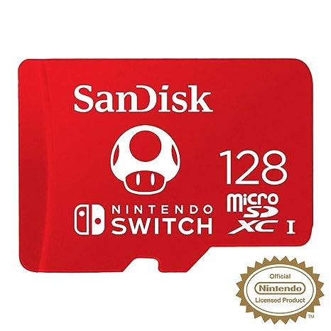 SanDisk - Tarjeta microSDXC de 128GB para Nintendo Switch: Sandisk ...