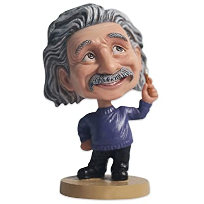 OZUKO Hand-Crafted Polyresin Albert Einstein Bobblehead Action Figure for Car Dashboard Einstein Statue Home Desk Decoration Figurine Toys Gift: Home & Kitchen