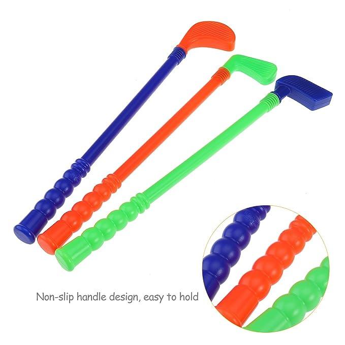 Amazon.com: TOYMYTOY Children Kids Plastic Golfer Toy Golf ...