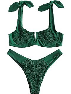 SevenDwarf Womens Sun Star Moon Lattice High Waisted Tankini Swimsuit