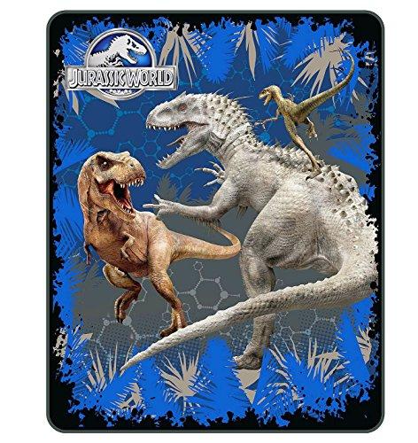 Jurassic World Dinosaur Indominus T-Rex Fleece Blanket Throw, 40