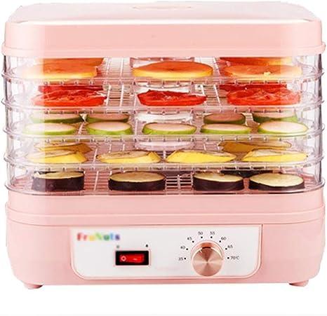 Opinión sobre L.TSA Deshidratador de Alimentos Deshidratador de Frutas Deshidratador Deshidratador Rectangular multifunción de 5 Capas para Alimentos Frescos - Perilla Control de Temperatura - para Carne