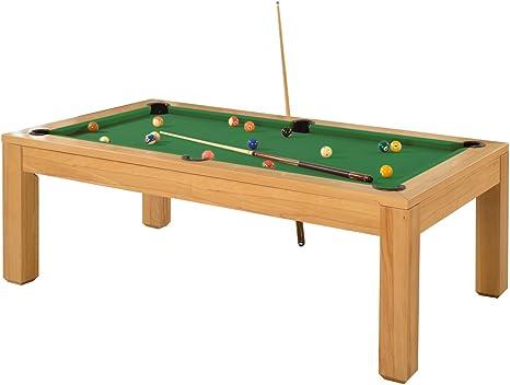 Precisión de roble macizo 7 cartucho de billar Slate cama mesa de comedor: Amazon.es: Deportes y aire libre