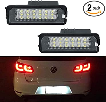 VW Bora Xenon White LED Number Plate License Light Bulbs Upgrade *SALE*