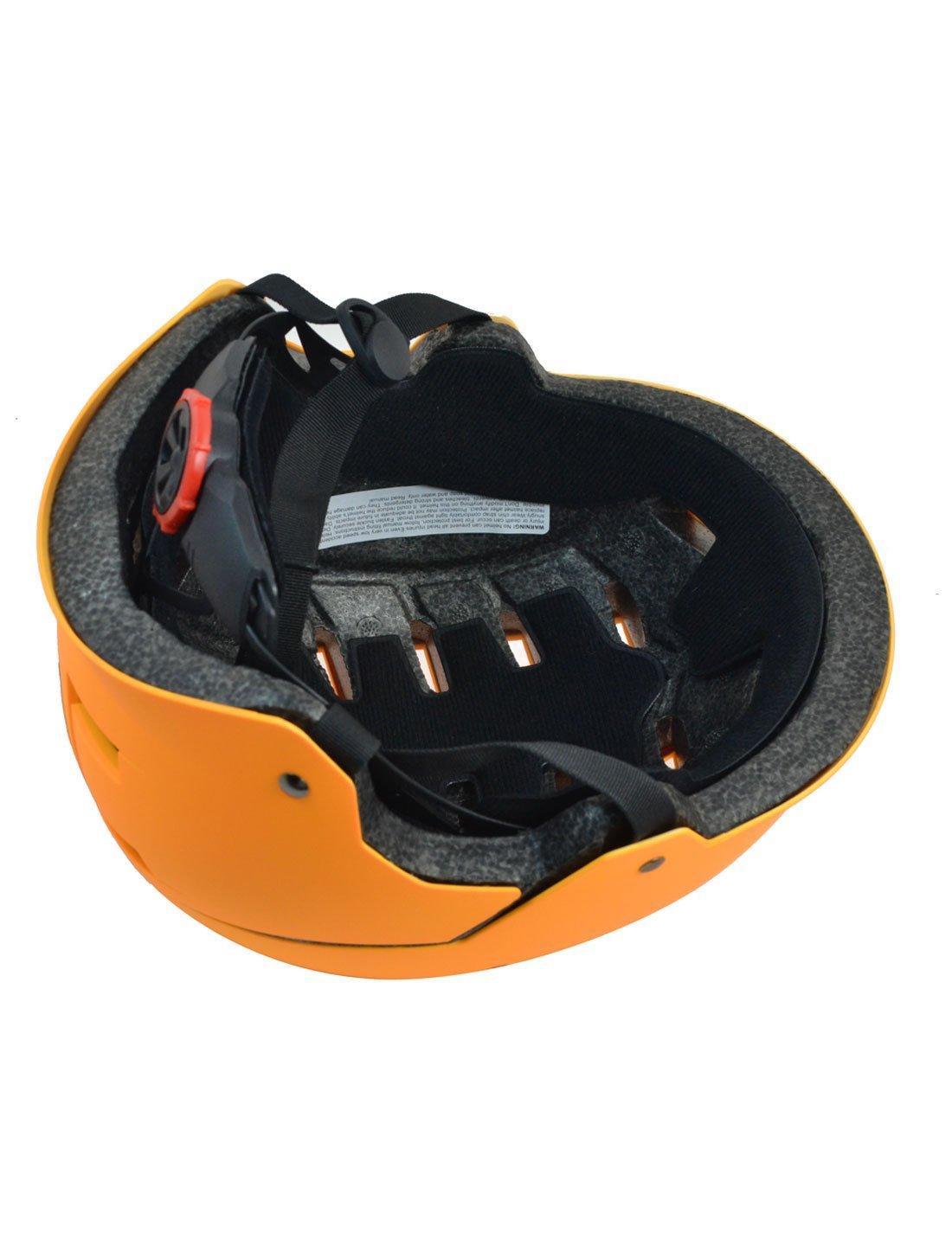 Amazon.com : eDealMax ahueca hacia fuera el diseño de la seguridad de PVC Para Bicicleta Casco de 23-25 pulgadas de Orange : Sports & Outdoors