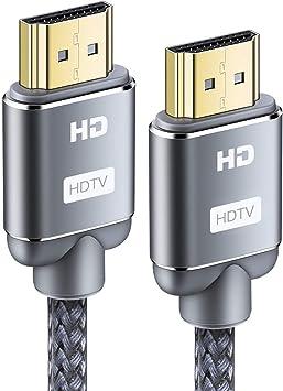 Cable HDMI 10Metros - Snowkids Cable HDMI de Alta Velocidad en Nylon Trenzado Compatible con 3D/Retorno de Audio: Amazon.es: Electrónica