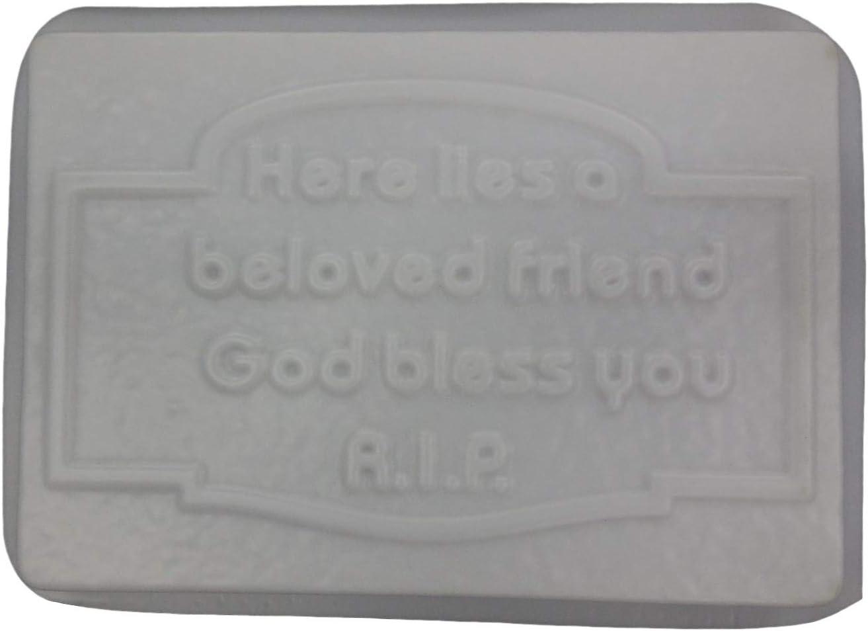 """Plaster concrete Memorial multi use plastic mold 15/"""" x 9/"""" x 3//4/"""" thick"""