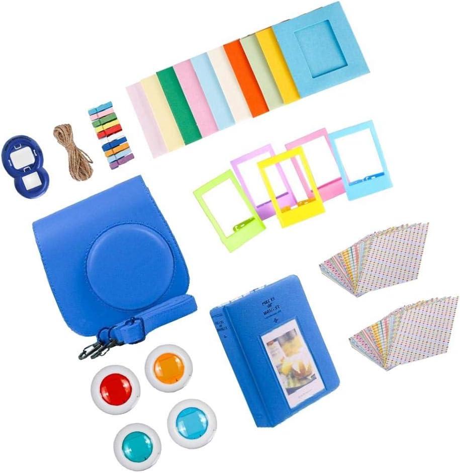 Almencla 9 in 1 Kamera Zubeh/ör Bundles Set Mini Tasche//Album//Selfie Objektiv//4 Farbige Filter Linse//Bunt Film Frames//Film Aufkleber Eisblau f/ür Instax Mini 8 8s 9