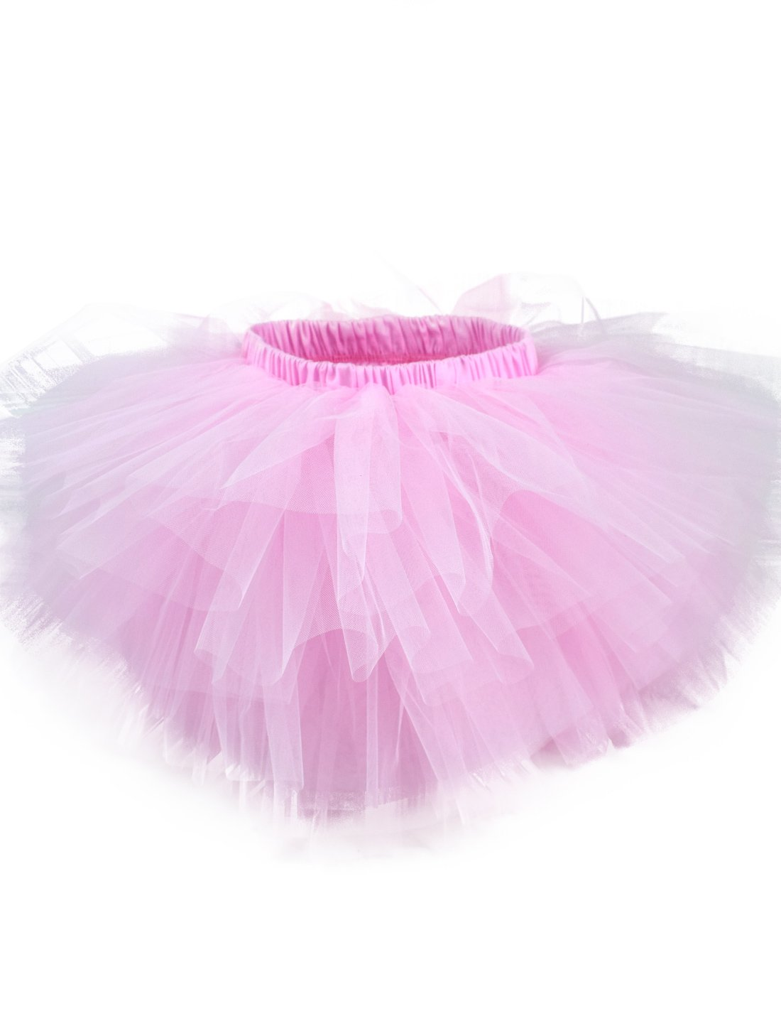 tortoiserabbit Girl's 6-Layered Ballet Tutu Fluffy Tulle Little Princess Dancing Petticoat Ballerina Skirt Pink L