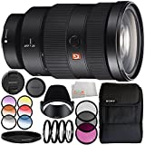 Sony FE 24-70mm f/2.8 GM Lens 10PC Accessory Bundle – Includes 3 Piece Filter Kit (UV + CPL + FLD) + 4PC Macro Filter Set (+1,+2,+4,+10) + MORE