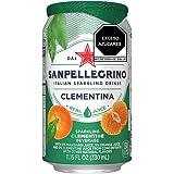 Agua Mineral sabor Mandarina, San Pellegrino, Clementina, 330 ml, Paquete de 12