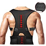 Magnetic Therapy Posture Corrector, Lesgos Fully Adjustable Back Brace Shoulder Support Belt For Women And Men To Improve Posture And Relieve Neck, Back And Lumbar Spine Pain